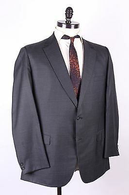 Vtg 60S Wool Charcoal Grey Sharkskin Slim Two Button Suit Usa Mens 44-46