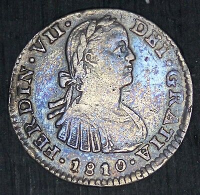 1810 TH Mo Mexico One Real Silver Coin - KM# 82 - NICE QUALITY