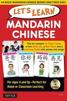 NEW Let's Learn Mandarin Chinese Kit By Li Yu Book with Other Items