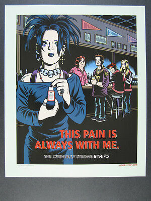 2003 Charles Burns Goth Girl art Altoids Strips vintage print Ad