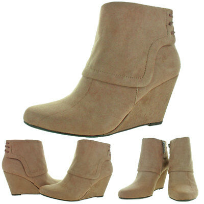 Jessica Simpson Reaca Women's Wedge Ankle Booties Boots
