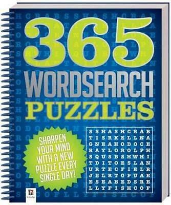 NEW 365 Wordsearch Puzzles Spiral Ringed Book Free Shipping