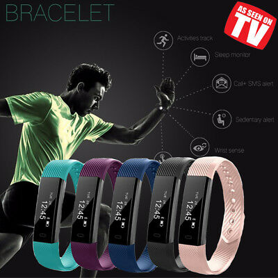 Bluetooth Activity Tracker - Smart Fitness Pedometer Step Counter Wrist Band UK