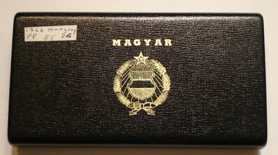 1966 PROOF SET of  Hungary LOW MINTAGE in original Box with Silver