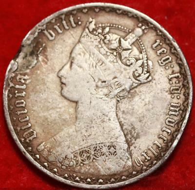 1862 Great Britain Florin Silver Foreign Coin Free S/H