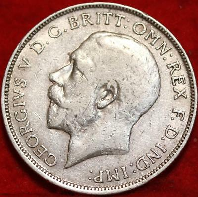 1919 Great Britain Florin Silver Foreign Coin Free S/H