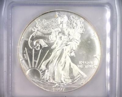 1997 American Silver Eagle ASE Silver $1 ICG MS69  (RC4926)