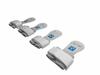 gymadvisor junior white leather palm hand guards, hand palm grips