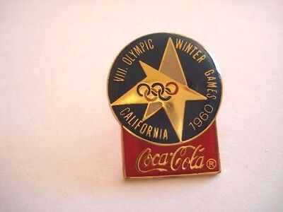 PINS JEUX OLYMPIQUES WINTER GAMES 1960 CALIFORNIA COCA COLA OLYMPIC GAMES wxc 31