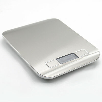 5kg Silver Digital LCD Electronic Kitchen Cooking Food Weighing Scales