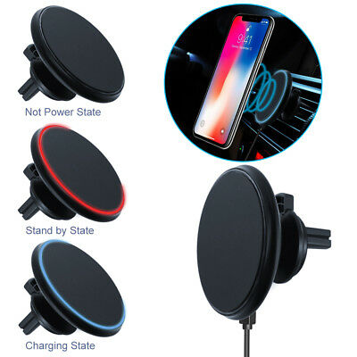 Qi Wireless Car Charger Magnetic Mount Holder For iPhone X/8 / 8 Plus/ 6S/7/Plus