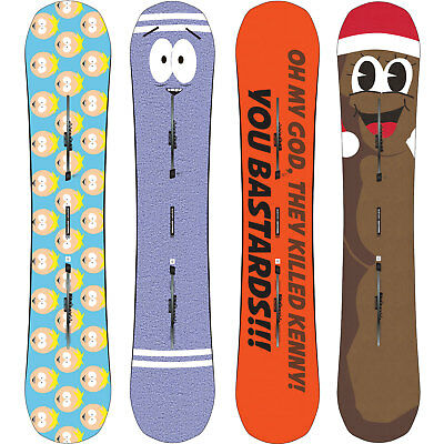 Burton Southpark South Parkitect Snowboards Kenny Butters Towelie Mr. Hanky NEU