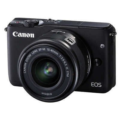 NEW Canon EOS M10 18MP MILC Camera with EF-M 15-45mm IS STM Lens BLACK