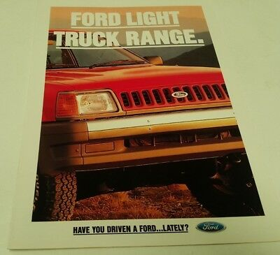 1990 ? FORD TRADER TRUCK New Zealand Issue Sales Brochure
