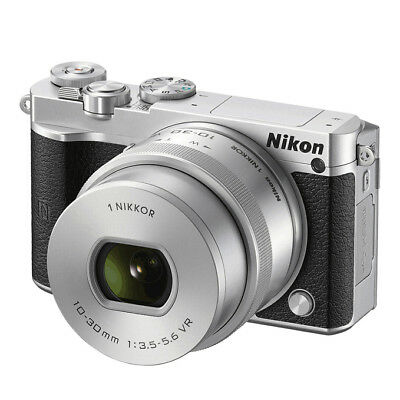 NEW Nikon 1 J5 20.8MP MILC Camera + 10-30mm f/3.5-5.6 PD-Zoom Lens SILVER