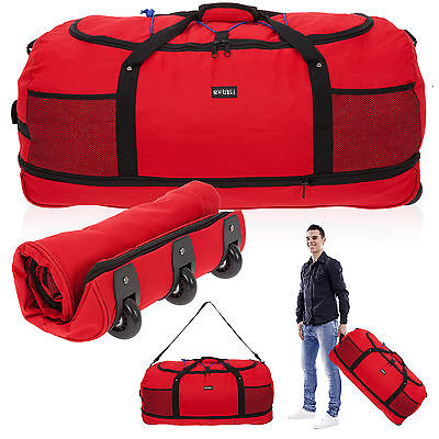 Trolley NEW REBELS Rollreisetasche ROLLINGBAG XXL 80 cm Trolly faltbar Bag ROT