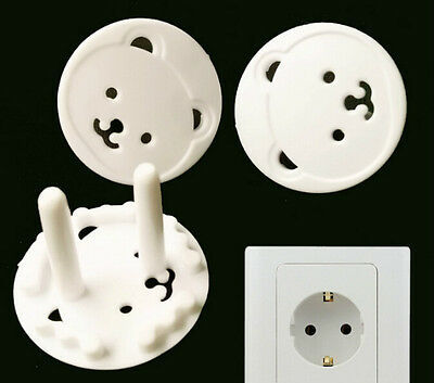 4 Pieces Child Safety Bears Power Board Socket Plug Protective Covers FG
