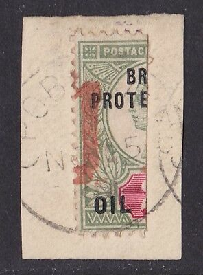 NIGER COAST : 1894 Opobo River Bisect provisional 1 on QV 2d ONLY 960 PRINTED!