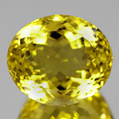 32.33ct Edler riesiger 21x18 mm Brasilien VVS Lemon Citrin Quarz,TOP Farbe