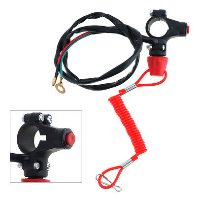 Engine Stop Cut Off Safety Kill Tether Switch Lanyard For Motorcycle Quad Bike