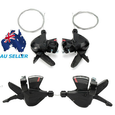 3x8-Speed Shift Lever Shifter Bike Bicycle Parts For Shimano Acera SL-M310 Black