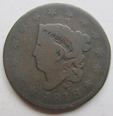 1818 United States Large Cent Coronet Head