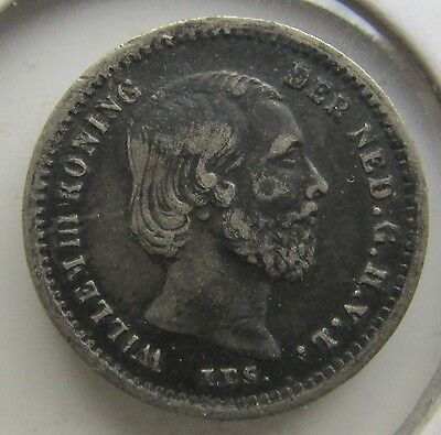 Netherlands, 1869 Silver 5 Cents Willem III