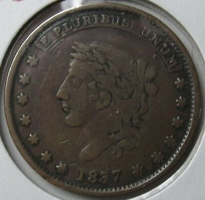 1837 Hard Times Token Millions For Defence Not One Cent For Tribute