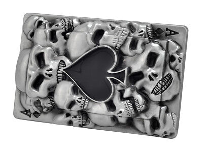 Ace of Spades Black Skull Belt Buckle Goth Gothic Unique Metal New Hip Cool