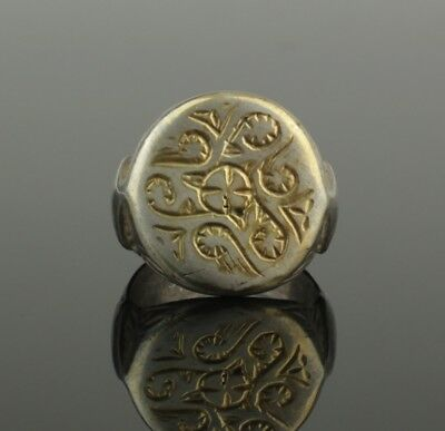 ANCIENT MEDIEVAL SILVER RING - CIRCA 12th/14th Century AD