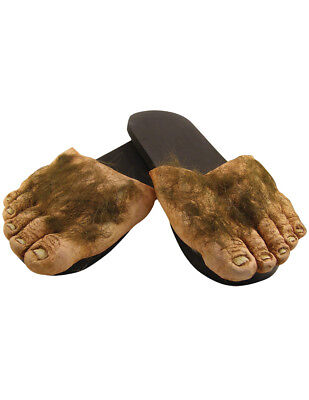 NEW Big Hairy Feet Slippers Hobbit Big Foot Houseshoe Shire Monster Funny Shoes