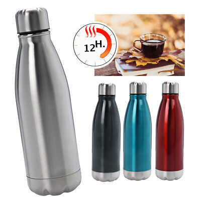 500ml Stainless Steel Vacuum Flask Travel Thermos Hot Cold Bottle Lid Insulated