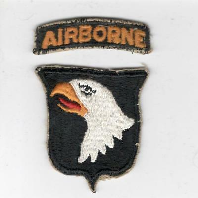 WW 2 US Army 101st Airborne Division Patch & Tab Inv# X148