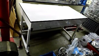 "60"" X 30"" X 35"" Tall Laminate Top Laboratory Work Bench/table On Wheels"