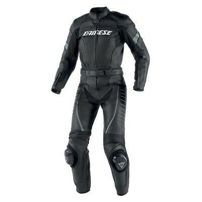 Dainese Racing 2-pc Womens Leather Motorcycle Suit Black/Black/Anthracite