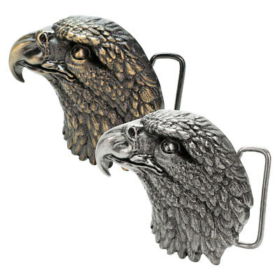 Buckle Rage Men's American Bald Eagle Head Western USA Country Pride Belt Buckle