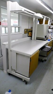 """72"""" X 31"""" Laminate Top Single Door Laboratory Work Bench/table With One Shelf"""