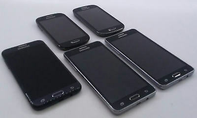 Dealer Lot Of 5 Metro PCS GSM Android Smartphones Cell Phones Samsung