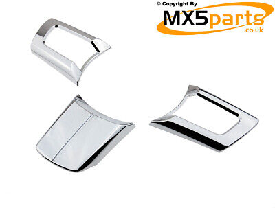 MX5 Chrome Steering Wheel Cover Trims Mazda MX-5 MK3/3.5/3.75 NC 2005>2015