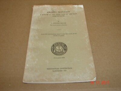 1963 Aircraft Propulsion, C. Fayette Taylor Booklet, 53 Pages, 27 Plates
