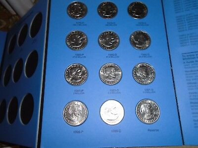 1979 - 999 Susan B Anthony Dollar Complete 12 coin PDS Set with Whitman Folder