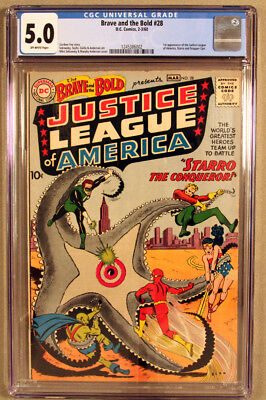 Brave And The Bold 28, Cgc 5.0 (Vg/f), 1St Appearance Of The Justice League