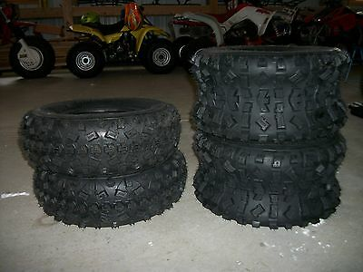 20X11-9 Yamaha Raptor 660 700 350 4 Front Rear 6 Ply ATV Tires 21X7-10