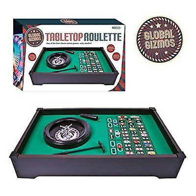 Roulette Wheel Global Gizmos Table Top Roulette - Party  -  Gift  Brand New  -