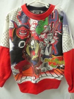 Kid's Vintage 1996 Space Jam Multi-Printed Pullover Sweater Size: S/4 (Nwt)