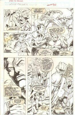 Wonder Man Annual #2 p.31 - Beast - Signed art by Gordon Purcell