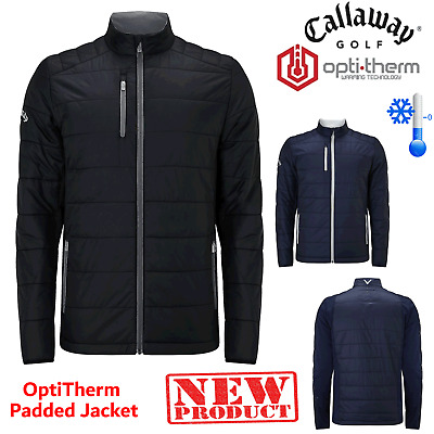 Callaway Full Zip Thermal Golf Jacket Opti-Therm Wind Proof Padded Golf Top New