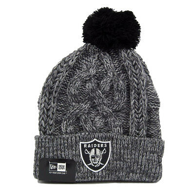 Oakland Raiders Officially Licenced NFL Graphite Knit Hat