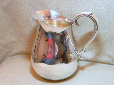 Large Lovely Graceful Antique Reed & Barton Silverplate 970 A Pitcher