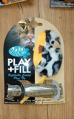 PLAY + FILL Cat/Kitten Toy Refillable CATNIP X1 (Orange)